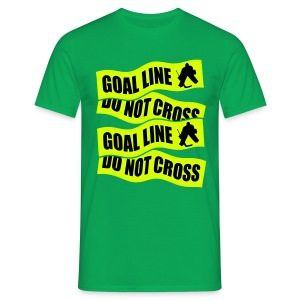 Goal Line Do Not Cross Men's Hockey T-Shirt - Men's T-Shirt