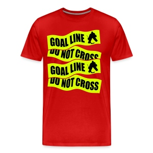 Goal Line Do Not Cross Men's Premium T-Shirt - Men's Premium T-Shirt
