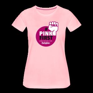 Frauen Logo-T-Shirt #PinkFirst // leicht tailliert - Frauen Premium T-Shirt