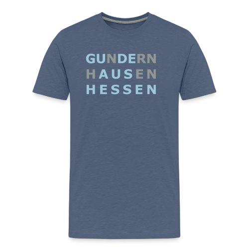 Gundernhausen - Gude aus Hessen - Männer Premium T-Shirt