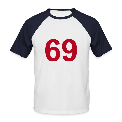 Retro-Shirt 69er - Männer Baseball-T-Shirt