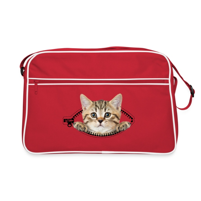 9633f710265b0 Retro Tasche - cat zipper