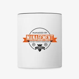 Managed by Management muki - Kaksivärinen muki