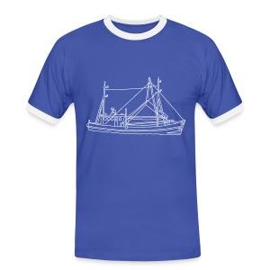 Fischerboot - Männer Kontrast-T-Shirt