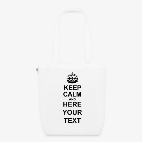Keep Calm And Edit - EarthPositive Tote Bag