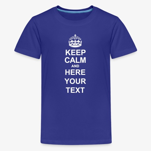 Keep Calm And Edit - Teenage Premium T-Shirt