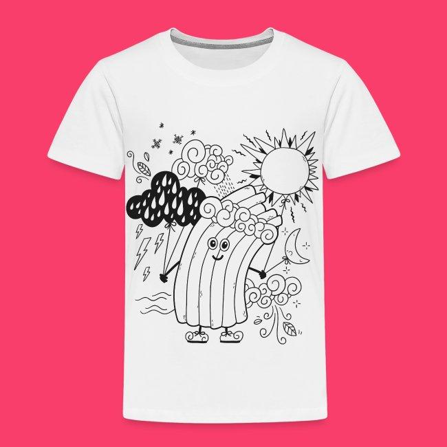 Rudi Regenbogen Kinder-Shirt zum Ausmalen