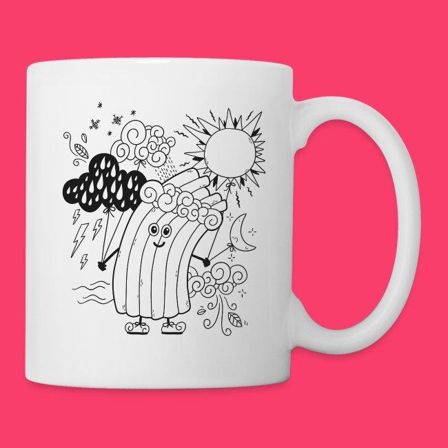 Rudi Regenbogen Kinder-Tasse zum Ausmalen