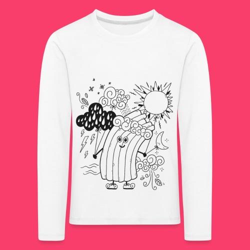 Rudi Regenbogen Kinder-Sweatshirt zum Ausmalen - Kinder Premium Langarmshirt