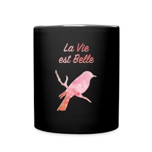 Tasse / Mug en céramique de couleur, Nuréa : La Vie est Belle  - Tasse en couleur