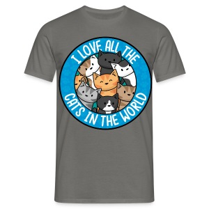 I love all the cats in the world - Men's/Unisex tee - Men's T-Shirt