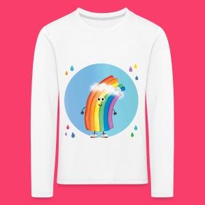 Rudi Regenbogen Kinder-Sweatshirt Regentropfen Aquarell - Kinder Premium Langarmshirt