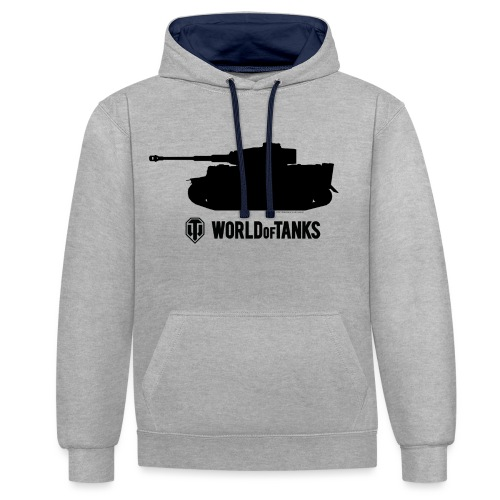World of Tanks Tiger Hoodie - Contrast Colour Hoodie
