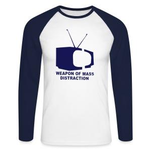Weapon of Mass Distraction - Shirt - Männer Baseballshirt langarm