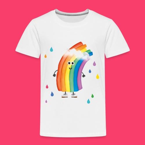 Rudi Regenbogen Kinder-Shirt mit bunten Tropfen - Kinder Premium T-Shirt