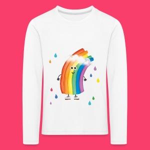 Rudi Regenbogen Kinder-Sweatshirt mit bunten Tropfen - Kinder Premium Langarmshirt