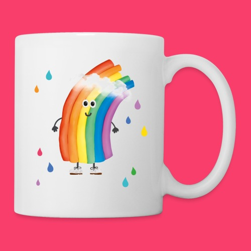 Rudi Regenbogen Kinder-Tasse mit bunten Tropfen - Tasse