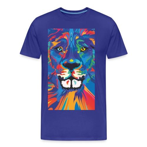 Lion Löwe Leeuw Leon - Men's Premium T-Shirt