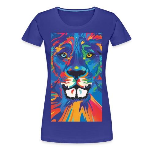 Lion Löwe Leeuw Leon - Women's Premium T-Shirt