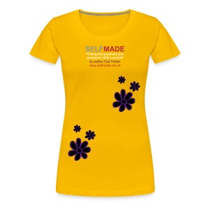 SM Ladies t-shirt with print flower design  - Women's Premium T-Shirt