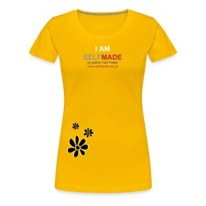 SM Ladies I AM t-shirt with print flower design  - Women's Premium T-Shirt