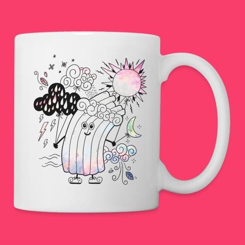 Rudi Regenbogen Outline-Tasse für Kinder - Tasse