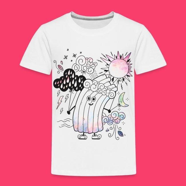 Rudi Regenbogen Outline-Shirt für Kinder