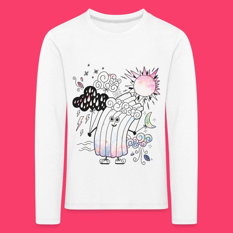 Rudi Regenbogen Outline-Sweatshirt für Kinder - Kinder Premium Langarmshirt
