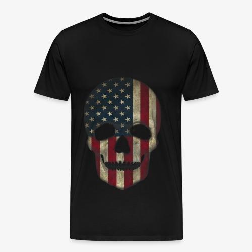 Skull USA - Männer Premium T-Shirt