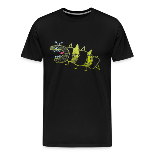 A non-organic, very angry male dino wasp - Mannen Premium T-shirt
