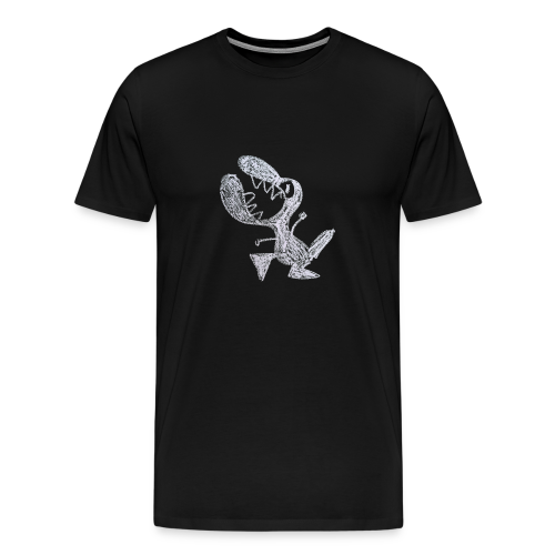 A male, non-organic, livid little dragon - Mannen Premium T-shirt
