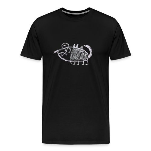 A male, poor looking monster - Mannen Premium T-shirt