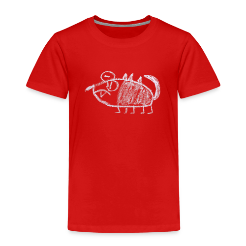 A young, poor looking monster - Kinderen Premium T-shirt