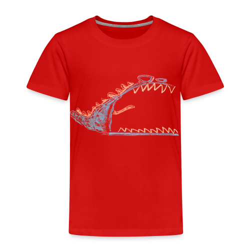 A young, angry, grumpy monster - Kinderen Premium T-shirt