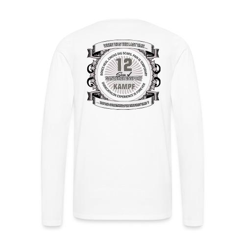 Longsleeve mit Logo + Dodecathlon auf dem Rücken - Männer Premium Langarmshirt