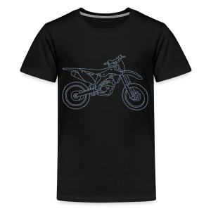 Motocross Motorrad - Teenager Premium T-Shirt