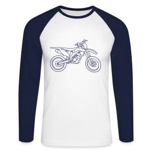 Motocross Motorrad - Männer Baseballshirt langarm