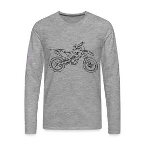 Motocross Motorrad - Männer Premium Langarmshirt