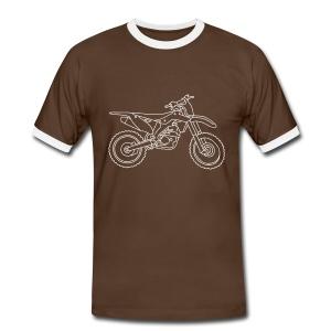 Motocross Motorrad - Männer Kontrast-T-Shirt