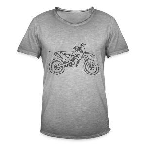Motocross Motorrad - Männer Vintage T-Shirt