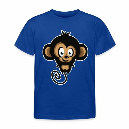 Camiseta de niño manga corta 100% algodón diseño mono - Camiseta niño