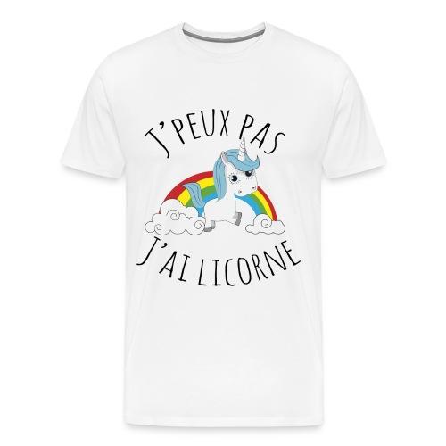 T'Shirt J'PEUX PAS J'AI LICORNE - T-shirt Premium Homme