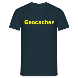 Basis T-Shirt Geocacher navy - Männer T-Shirt