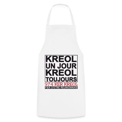 Tablier de cuisine Kreol un jour, Kreol toujours - Tablier de cuisine