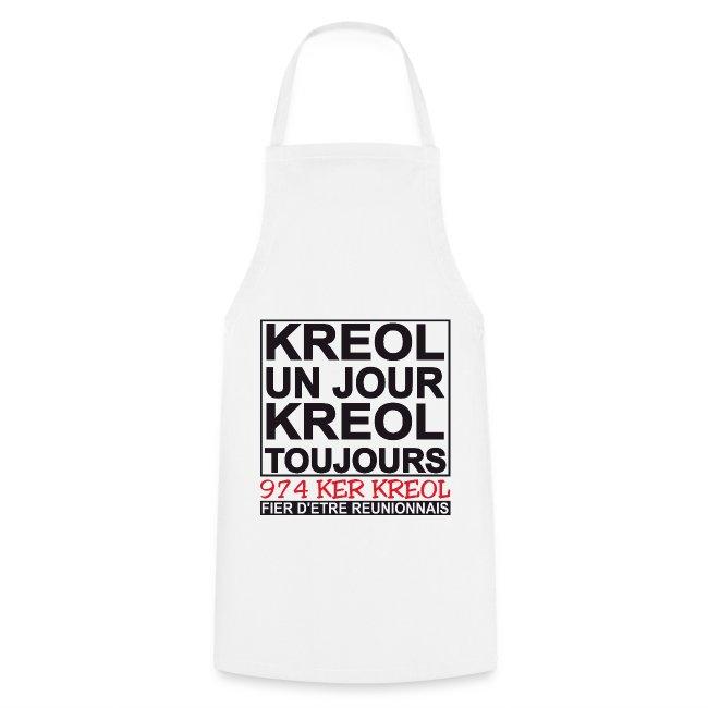 Tablier de cuisine Kreol un jour, Kreol toujours