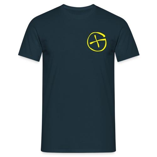 Basis-T-Shirt Geocaching navy Logo klein - Männer T-Shirt
