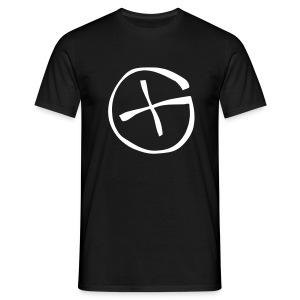 Basis-T-Shirt Geocaching schwarz Logo gross - Männer T-Shirt