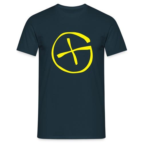 Basis-T-Shirt Geocaching navy Logo gross - Männer T-Shirt