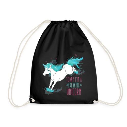 Freaking Unicorn Beutel - Turnbeutel