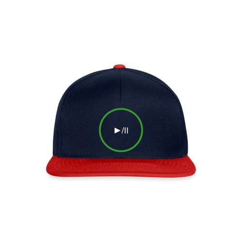 P Art Play Button  - Snapback Cap